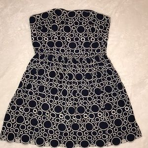 Laundry by Shelli Segal-Eyelet Strapless Dress